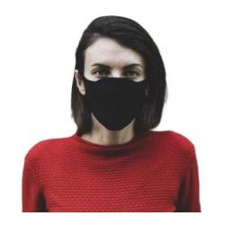 Masque barrière tissu trois couches lavable avec recharge, fabriqué en France