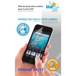Verre trempé anti lumière bleue 100% pour iPhone XR & 11