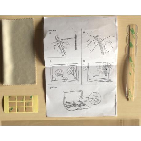 Kit de pose amovible pour filtres anti lumière bleue